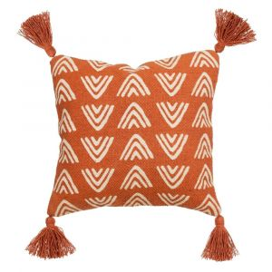 Terracotta Block Print Cushion