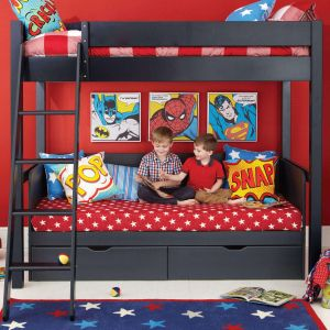 Front of Warwick Wooden High Sleeper Bed, Childs High Sleeper Bed, Kids High Sleeper Bed & Day Bed