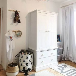 Charterhouse Two Drawer Children's Wardrobe - Silk White