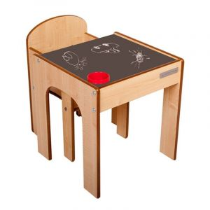 Children's Chalkboard Play Table and Chair Funstation