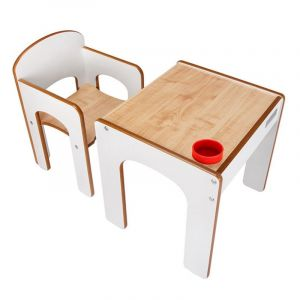 Children's White Play Table and Chair Funstation
