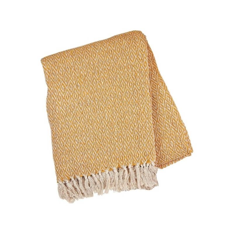Boho Mustard Blanket Throw