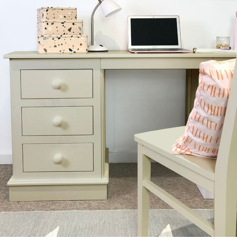 Children's Double Pedestal Desk - Taupe