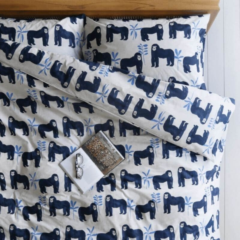 Gorillas Organic Cotton Single Duvet Set