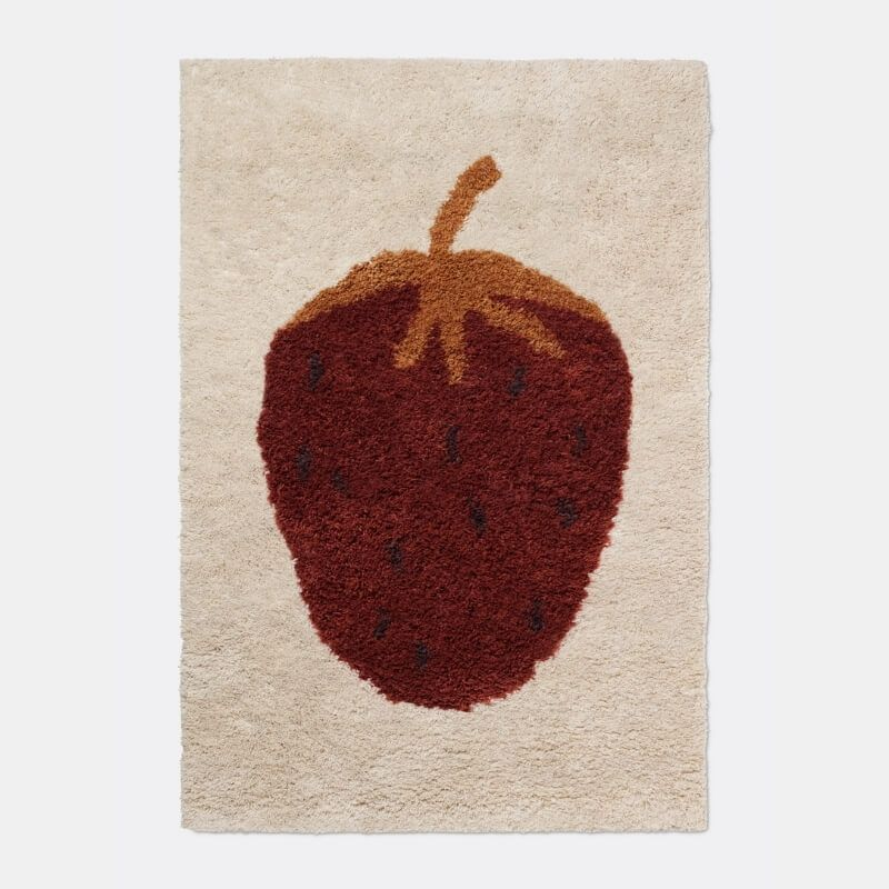 Ferm Living Fruiticana Strawberry Large Children's Rug