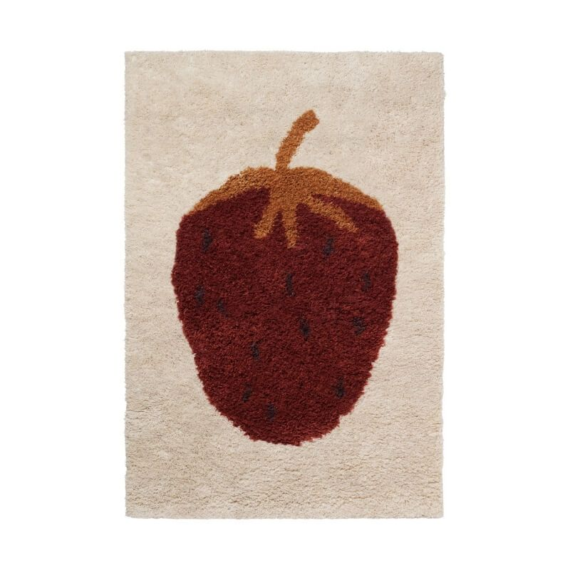 Ferm Living Fruiticana Strawberry Standard Children's Rug