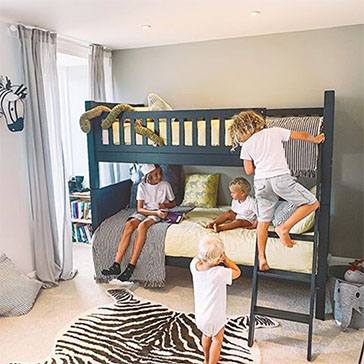 Charterhouse Bunk Bed Dark Grey