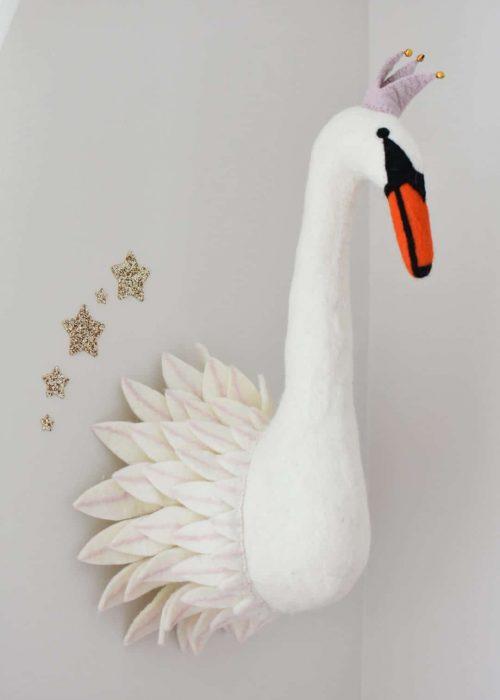 Cecelia Felt Swan Head