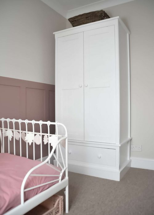 Charterhouse Silk White Wardrobe in Nursery